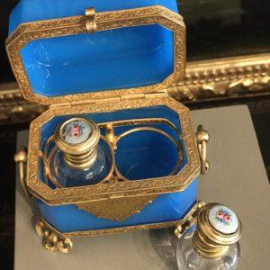 Boîte à parfums en agate XIXème